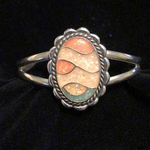 Southwestern Sterling Desert Sand Cuff Bracelet